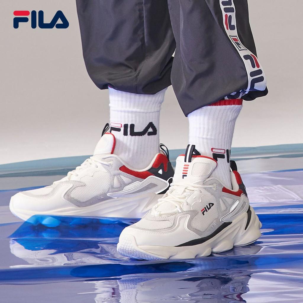 FILA Men's Shoes Official Daddy Mesh Breathable Casual Sports Retro รองเท้าวิ่งผู้ชาย