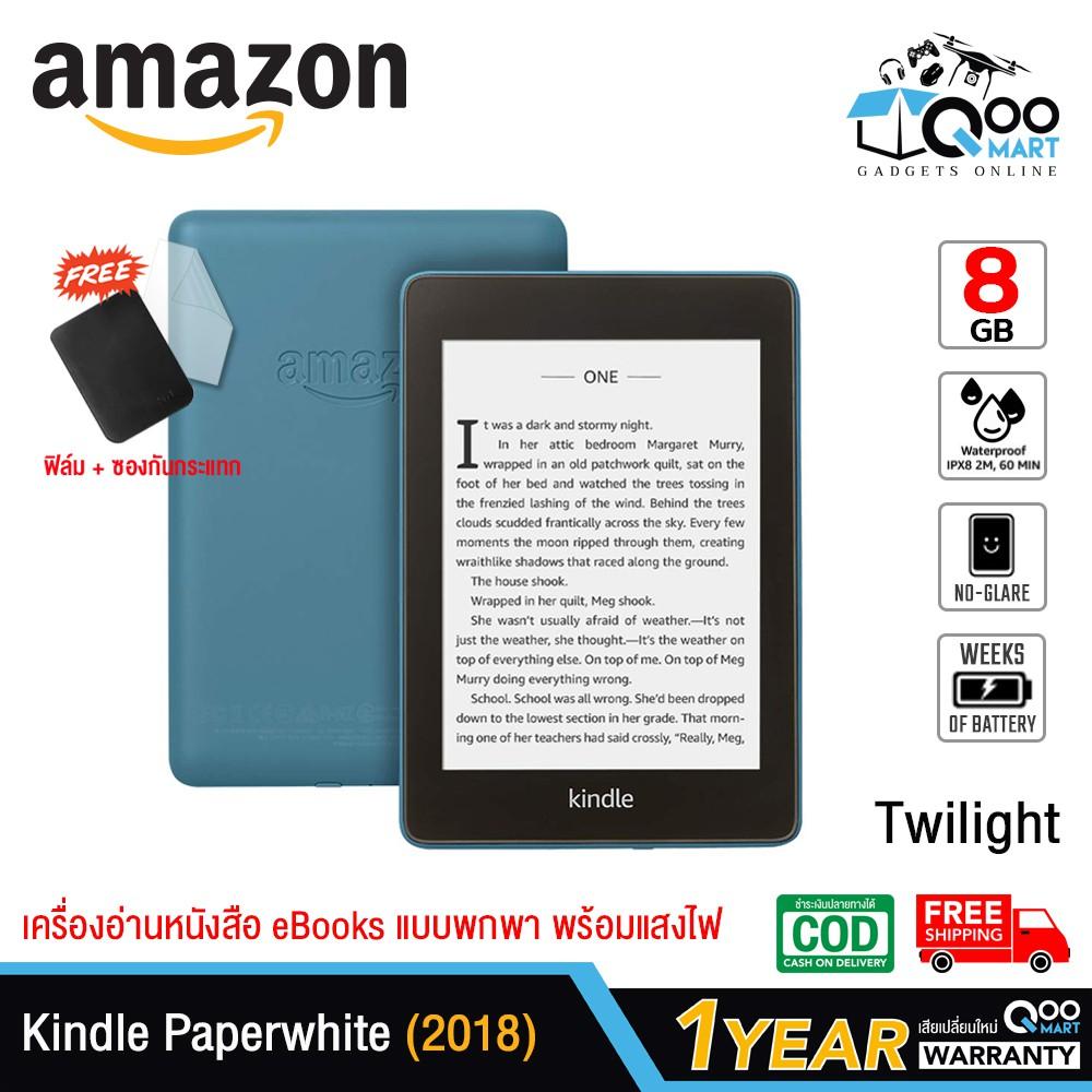 ✴✧❇Amazon Kindle Paperwhite eBooks Reader (10th Gen 2018) 8GB or 32GB เครื่องอ่านหนังสือ หน้าจอขนาด 6 นิ้ว 300 PPI กันน