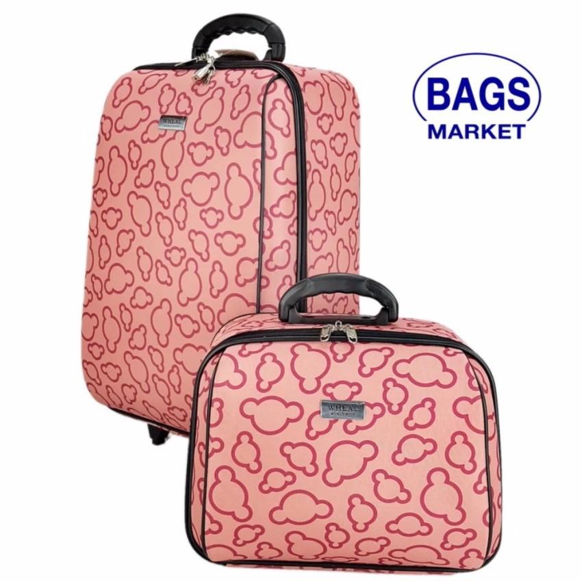 กระเป๋าเดินทางล้อลาก Luggage Wheal เซ็ทคู่ 20/14 นิ้ว Code 65020-5 Micky Mouse (Pink) กระเป๋าล้อลาก กระเป๋าเดินทางล้อลาก