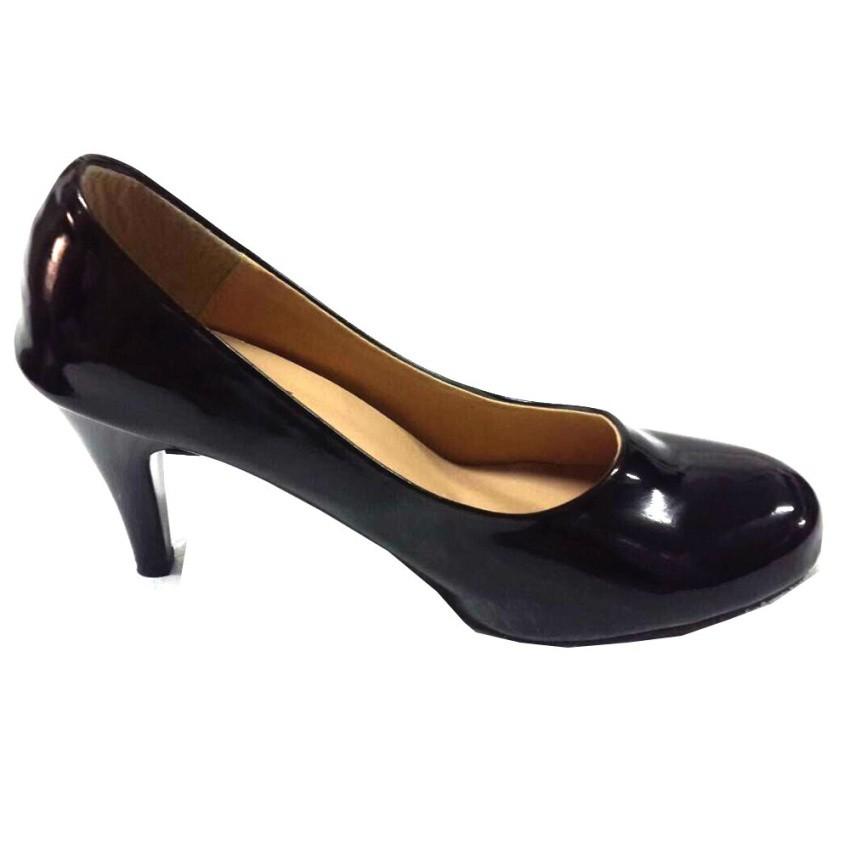 Ruay Tang รองเท้าแฟชั่นคัชชูผู้หญิง (สีดำ)