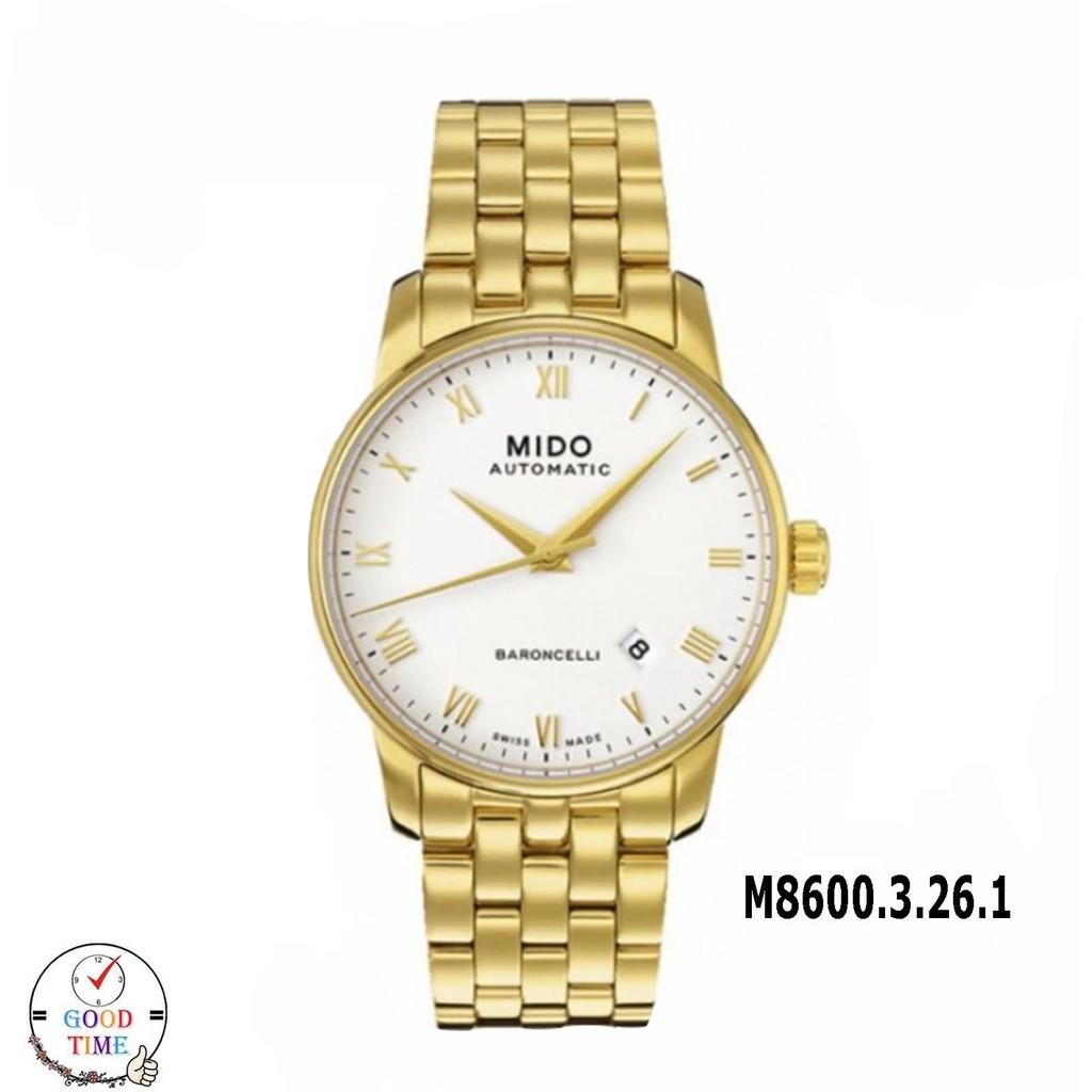 Mido Baroncelli Automatic นาฬิกาข้อมือชาย รุ่น M8600.3.26.1