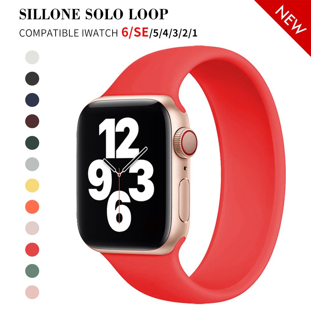 สายนาฬิกาข้อมือซิลิโคนสําหรับ Apple Watch Band 44 มม . 40 มม . 38 มม . 42 มม . Iwatch Apple Watch Series 6 Se 5 4 3 2