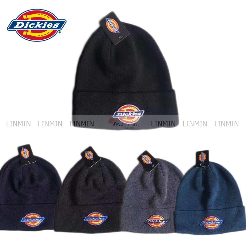 Dickies ฤดูใบไม้ร่วง ฤดูหนาว 2019 หมวกถักนิตติ้งแบรนด์ Tide ใหม่ / หมวกไหมพรม(ชาย / หญิง)มัลติคัลเลอร์