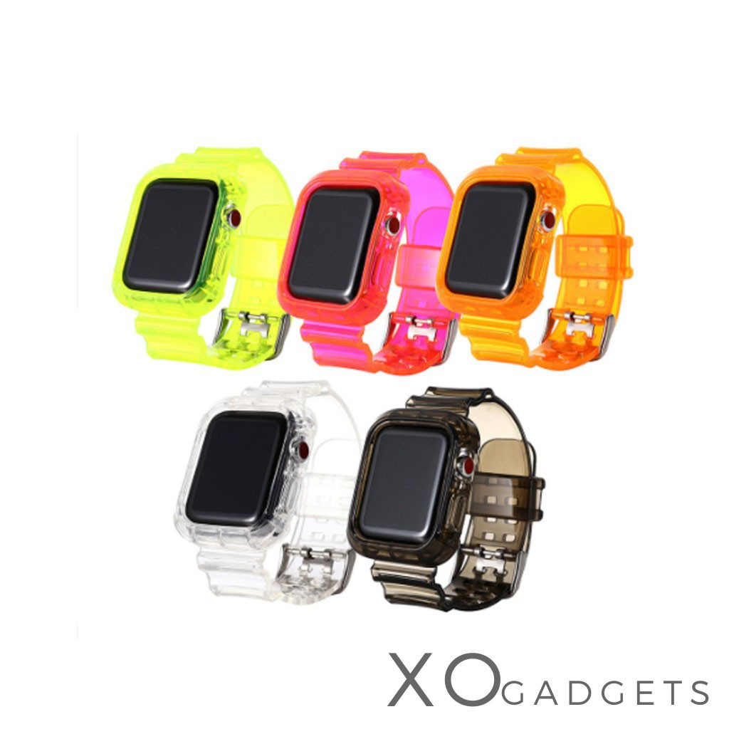 applewatch สายสำหรับ Apple Watch แบบใส เรืองเเสง Series1/2/3/4/5 ขนาด 38,40,42,44 mm.