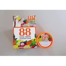 ครีมรักแร้ขาว รักแร้ขาว ครีมทารักแร้ 88 Total White Underarm Cream ครีมปรับสภาพผิวรักแร้ขาว ครีมรักแร้ขาว 88