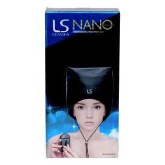 [จัดส่งฟรี]Lesasha หมวกอบไอน้ำดูแลสุขภาพเส้นผม พร้อมหมวกครอบ 12 ชิ้น - Black