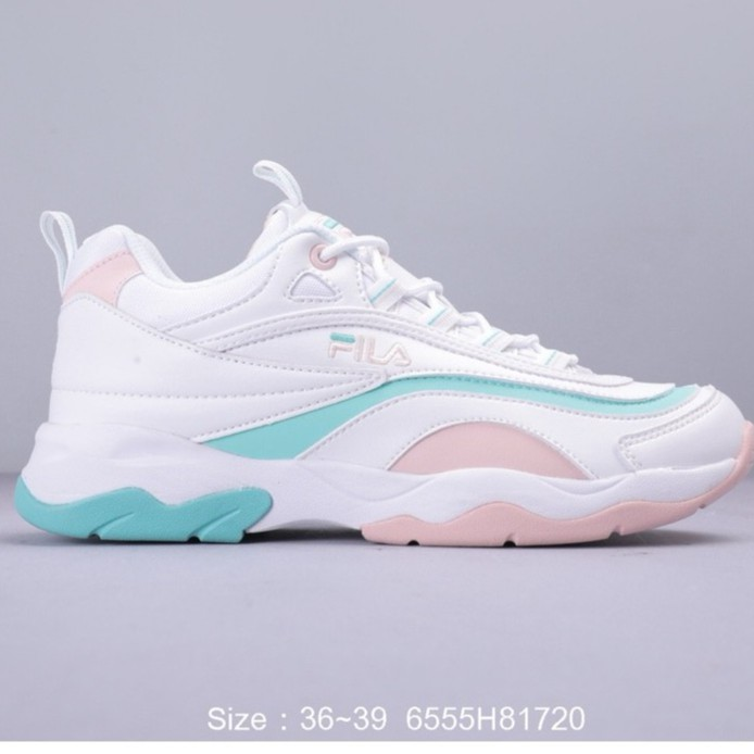 FILA FUSION RAY รองเท้าผ้าใบเก่ารองเท้าลำลองย้อนยุครองเท้าวิ่ง