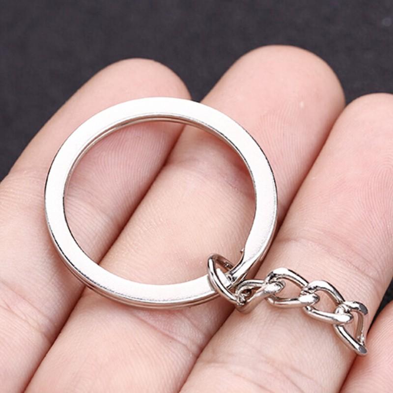 50PCS DIY Polished Silver Key Rings Key Chain Split Ring 30MM Jewelry Finding  M