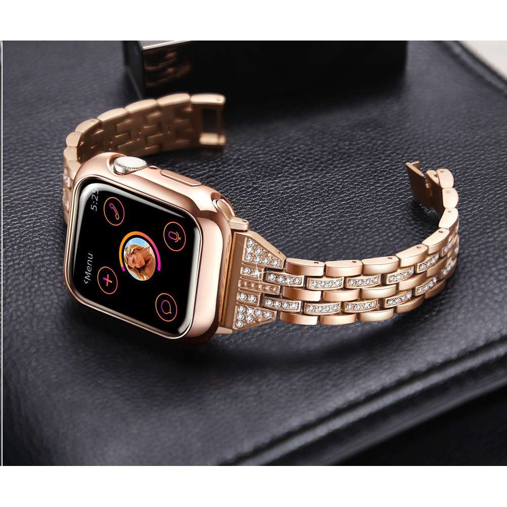 Apple Watch สายนาฬิกา + เคส รูปสี่เหลี่ยมขนมเปียกปูน สาย applewatch Diamonds Straps for สาย applewatch Apple watch Serie