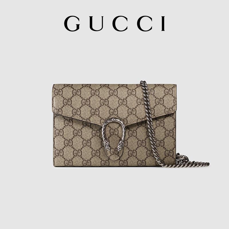 กระเป่าเป้ กระเป๋า Gucci ของแท้หญิง Dionysus GG Supreme กระเป๋าผ้าแคนวาสสะพายข้างแฟชั่นสะพายข้าง