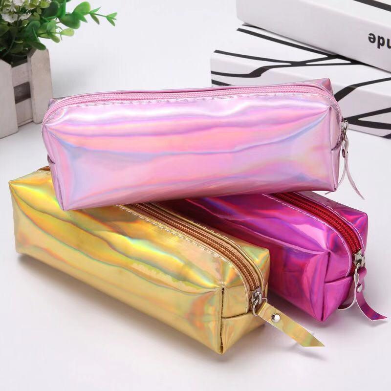 ✟✉◘สั่นด้วยกระเป๋าเครื่องสำอาง กระเป๋าเครื่องสำอาง กระเป๋านักเรียนใบเล็กเหมือนกัน กระเป๋าเดินทางขนาดเล็กแบบพกพากระเป๋าดิ