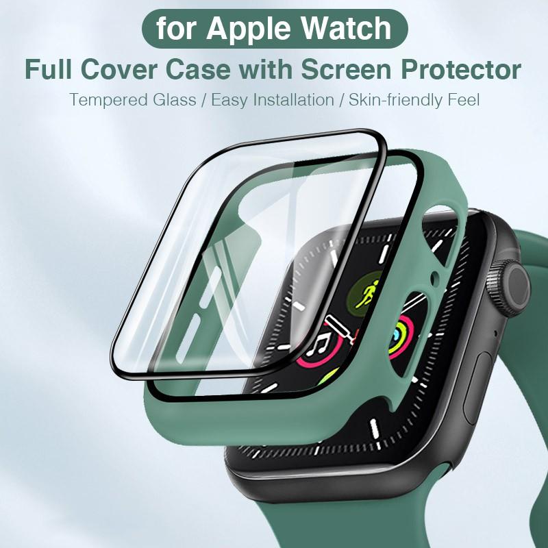 สาย applewatch สายนาฬิกา applewatch เคสนาฬิกา ป้องกันหน้าจอ สําหรับ Apple Watch Iwatch Series 1-6