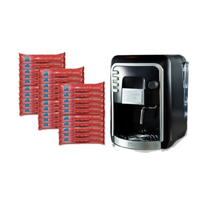 กาแฟแคปซูล : Coffee Italy เครื่องทำกาแฟ รุ่น HAUSBRANDT CAPSY + แคปซูลกาแฟ 30 แพ็ค รส Brazil