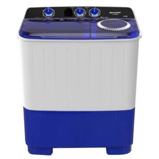 SHARP เครื่องซักผ้าฝาบน2ถัง รุ่น  ES-TW70BLขนาด 7 KG.