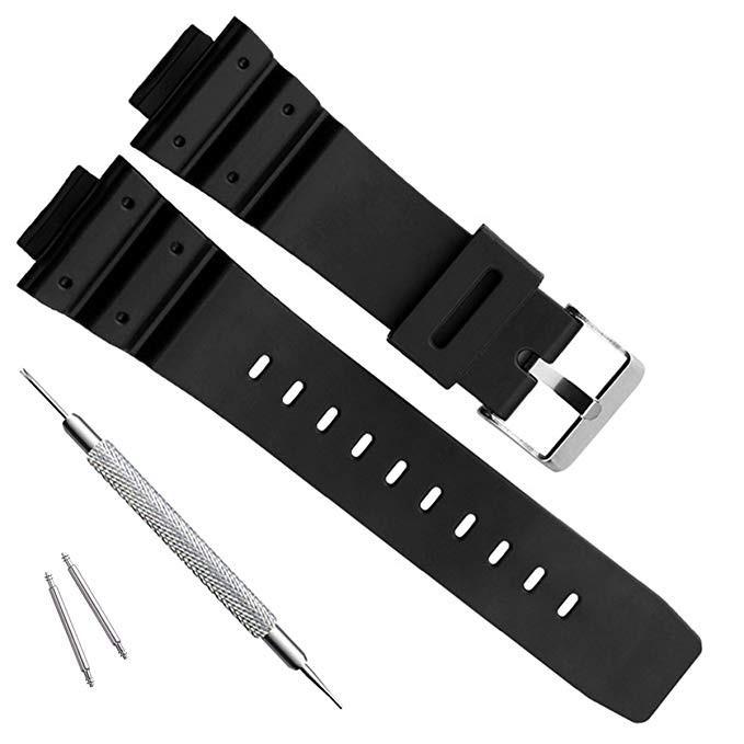 สาย applewatch แท้ สาย applewatch (สีดำด้าน J1) สายนาฬิกา 26x16 mm สายทดแทน ใช้ได้กับ Casio G Shock และ Sport Watch
