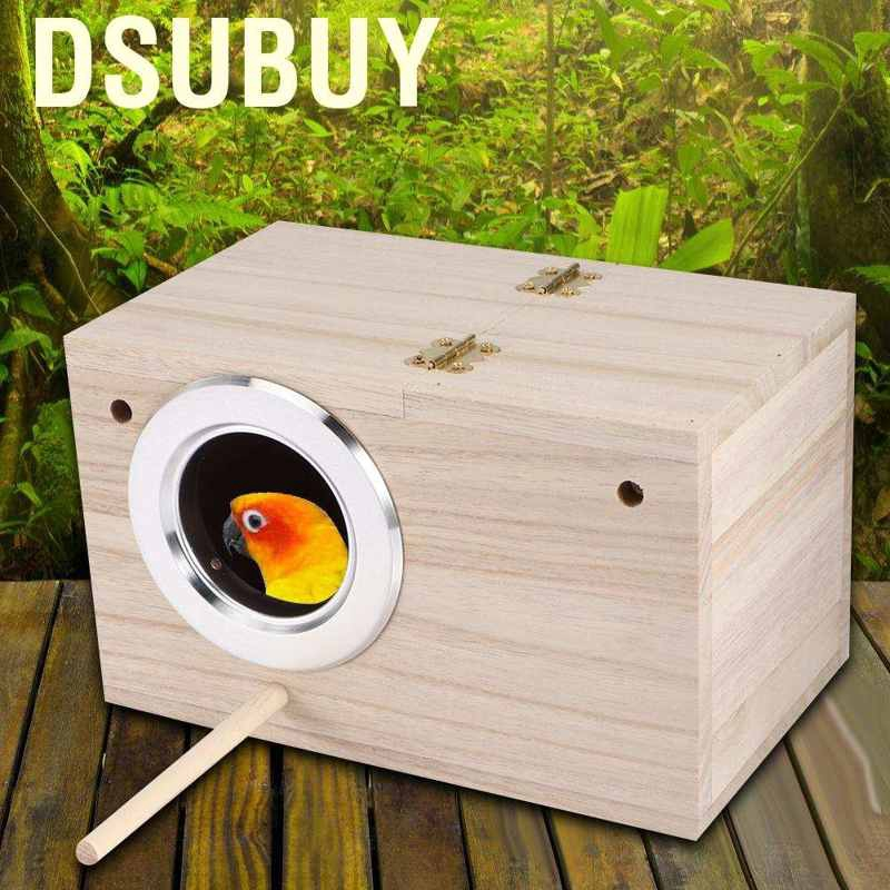Dsubuy กล่องเพาะพันธุ์นกขนาด 12x12 X 19 . 5 ซม . สําหรับตกแต่งบ้านนก