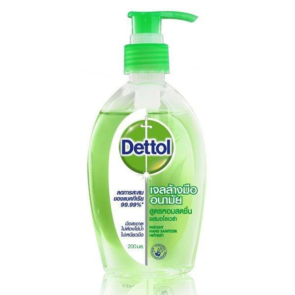 Dettol Gel 200มล (1ขวด) เจลล้างมือผสมอโลเวล่า ปกป้องและขจัดเชื้อโรค
