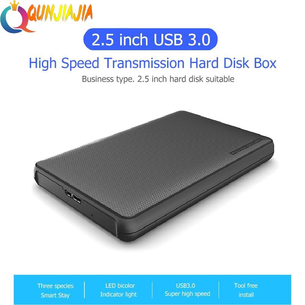 QJ ❤ USB 3 0 to 2 5 inch SATA HDD SSD Enclosure External Hard Disk Drive  Case
