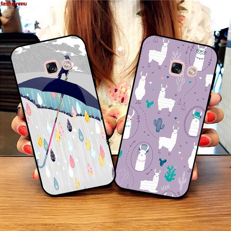 8030304 ♝Samsung A3 A5 A6 A7 A8 A9 Pro Star Plus 2015 2016 2017 2018 HHDW Pattern-6 Silicon Case Cover❂