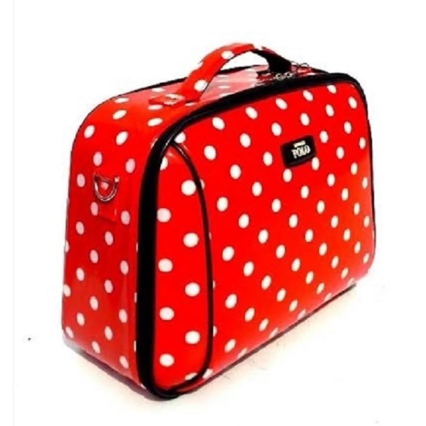 Romar กระเป๋าเดินทาง สะพายข้าง14นิ้ว ลายจุดสีขาว (พื้นสีแดง)