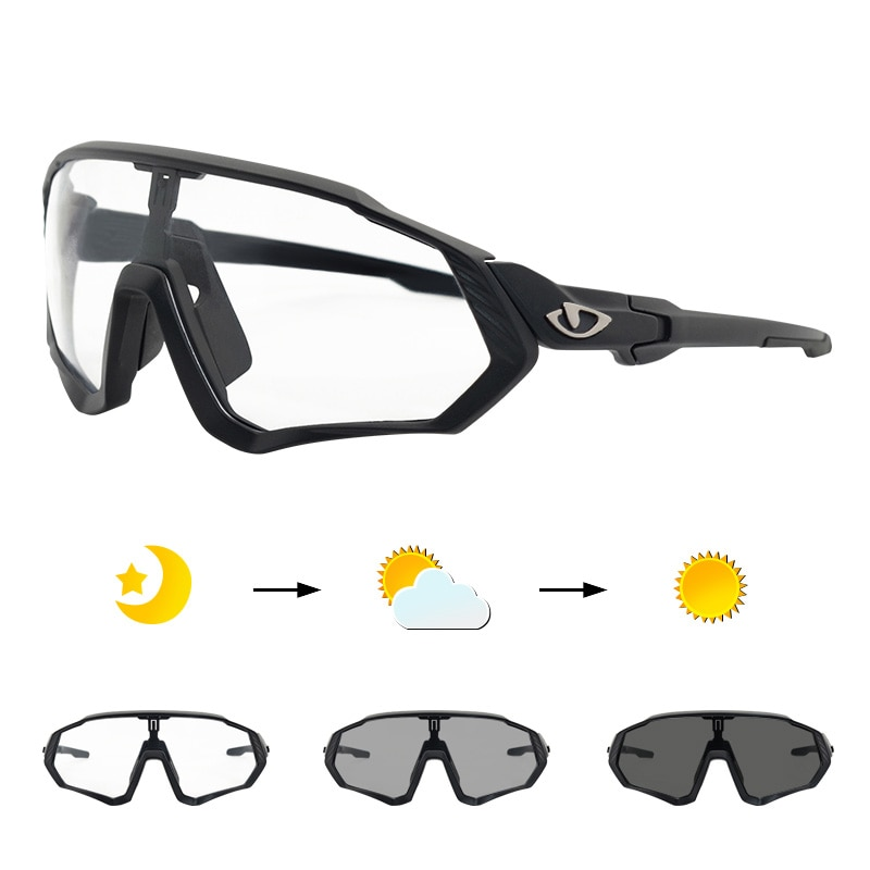 2020 Photochromic Cycling Glasses Bike Sunglasses Outdoor Sport Bicycle Sunglass MTB Goggles Polarized Cycling Gafas Cic