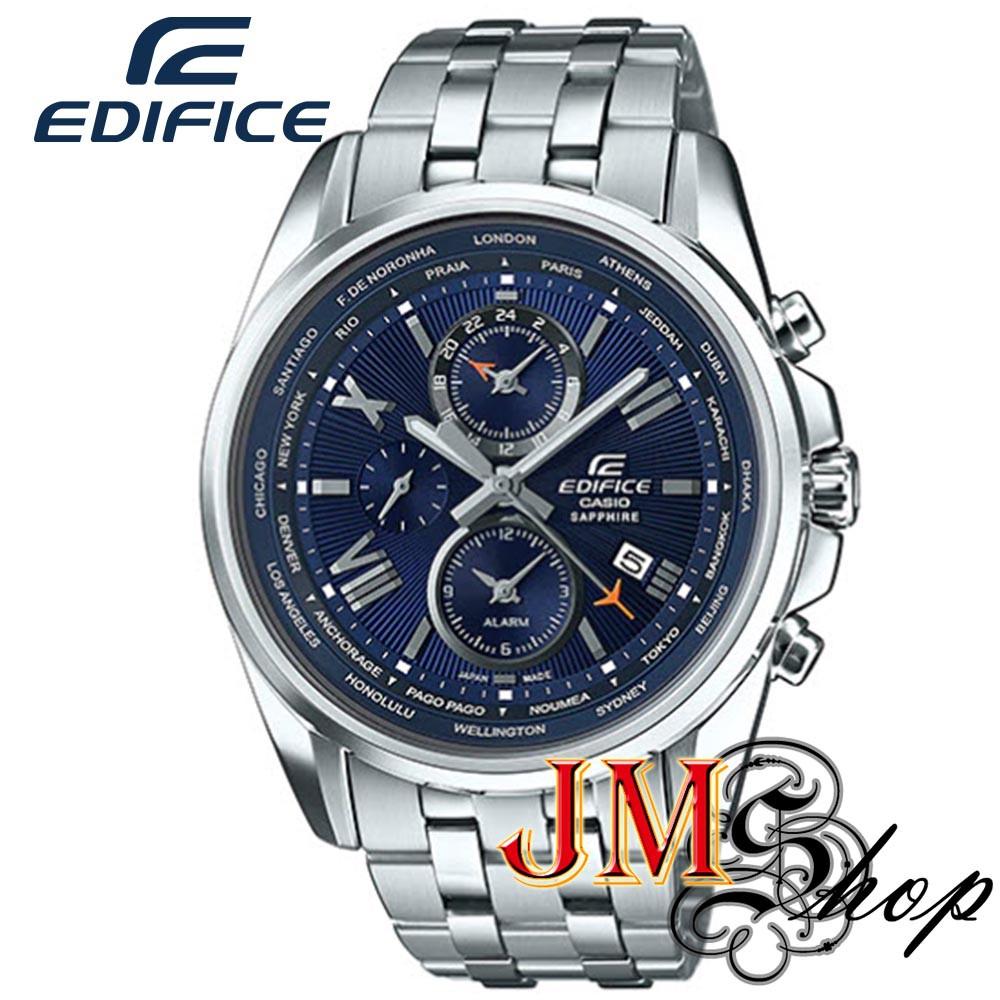 Casio Edifice นาฬิกาข้อมือผู้ชาย สายสแตนเลส รุ่น EFB-301JD-2ADR (สีเงิน/หน้าปัดสีน้ำเงิน)