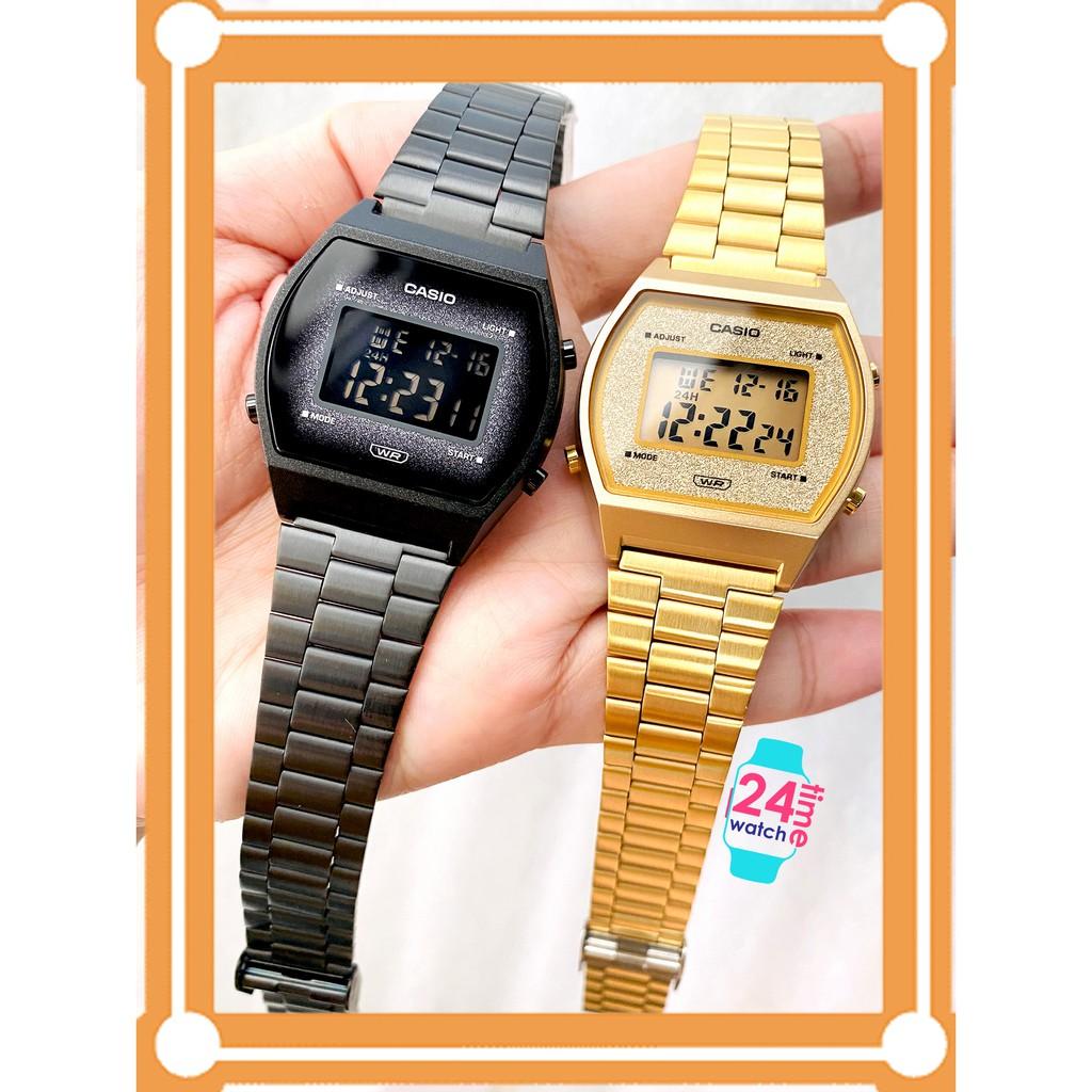 นาฬิกาผู้หญิง นาฬิกา Casio แท้เท่านั้น B640WBG-1, B640WGG-9 สายสเตนเลส พร้อมประกัน