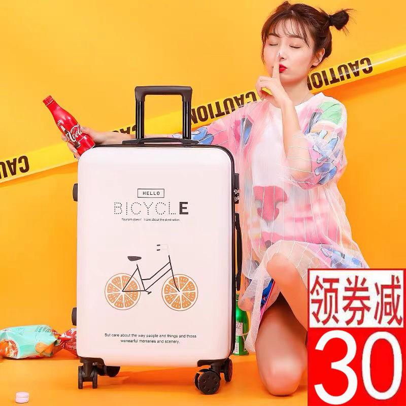 24กระเป๋าเดินทาง 20 นิ้ว18⊙กระเป๋านักเรียนหญิงเวอร์ชั่นเกาหลีของรถเข็นกระเป๋าเดินทางการ์ตูนแอนิเมชั่นรหัสผ่านกล่องกระเป๋