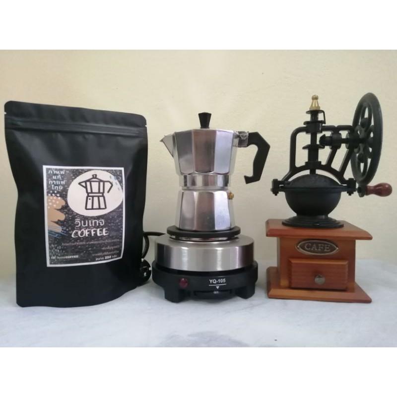 ชุดชงกาแฟMokaPot เครื่องทำกาแฟ เครื่องชงกาแฟ อุปกรณ์ครบ พร้อมชงดื่ม