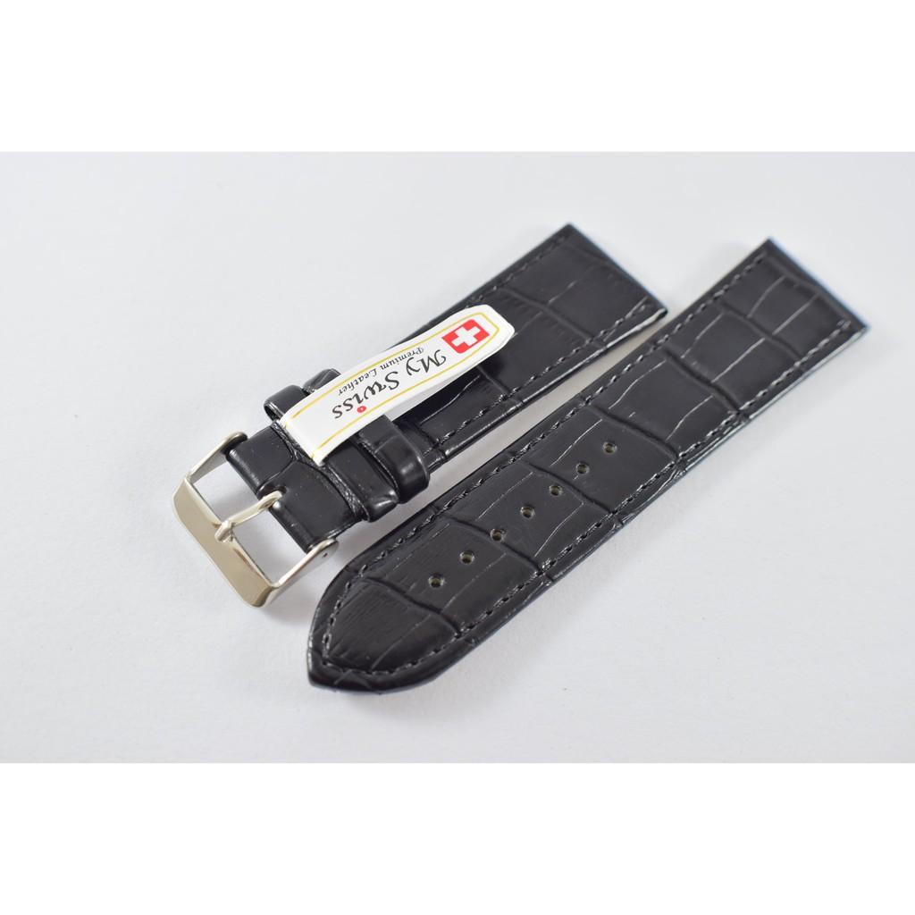สาย applewatch แท้ สาย applewatch สายนาฬิกา ขนาด 26 mm. ลายจรเข้ สีดำ ผลิตจากหนัง PU เกรด A