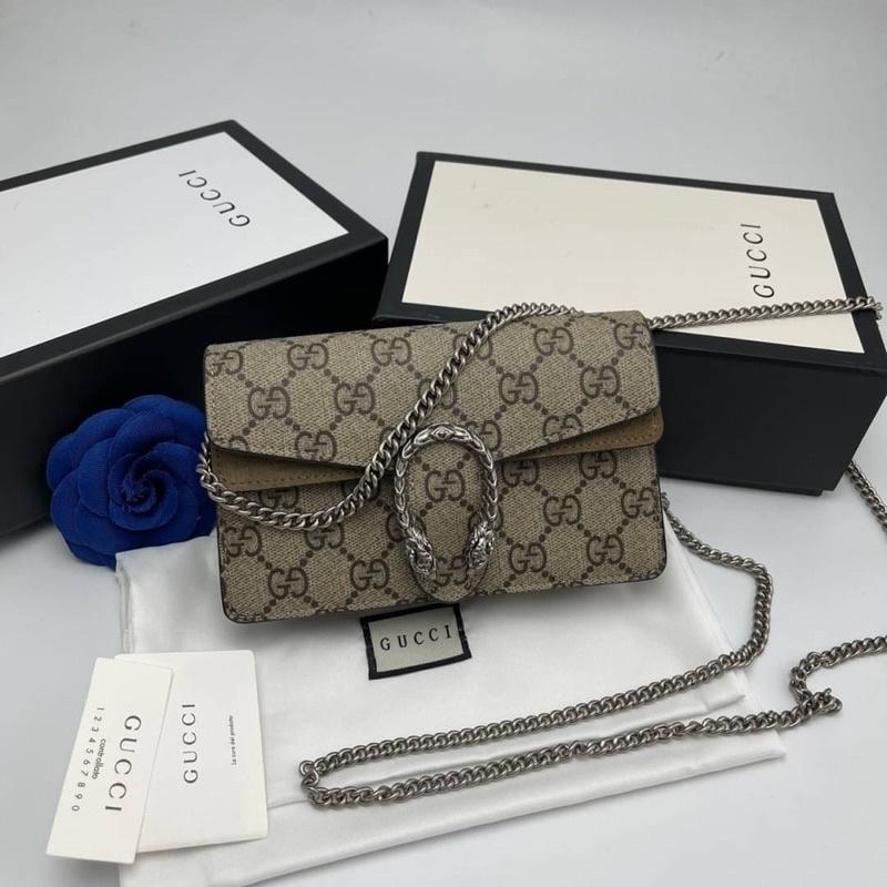 Gucci Dionysus shoulder bag Original Grade Size 16.5 cmแนะนำเลยค่ะ หนังสวยมาก ตัวโลหะและอัญมณีทำออกมาได้เทียบแท้เลยค่ะ