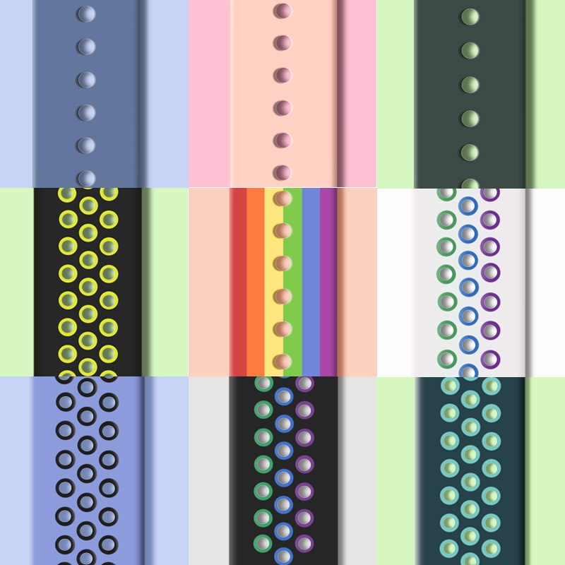 สาย applewatch☑✵❆ใช้ได้กับ applewatch 6 generation สายนาฬิกา iwatch3 / 4 SE 5 รุ่นซิลิโคนกีฬา S5 เปลี่ยนสาย iphone watc