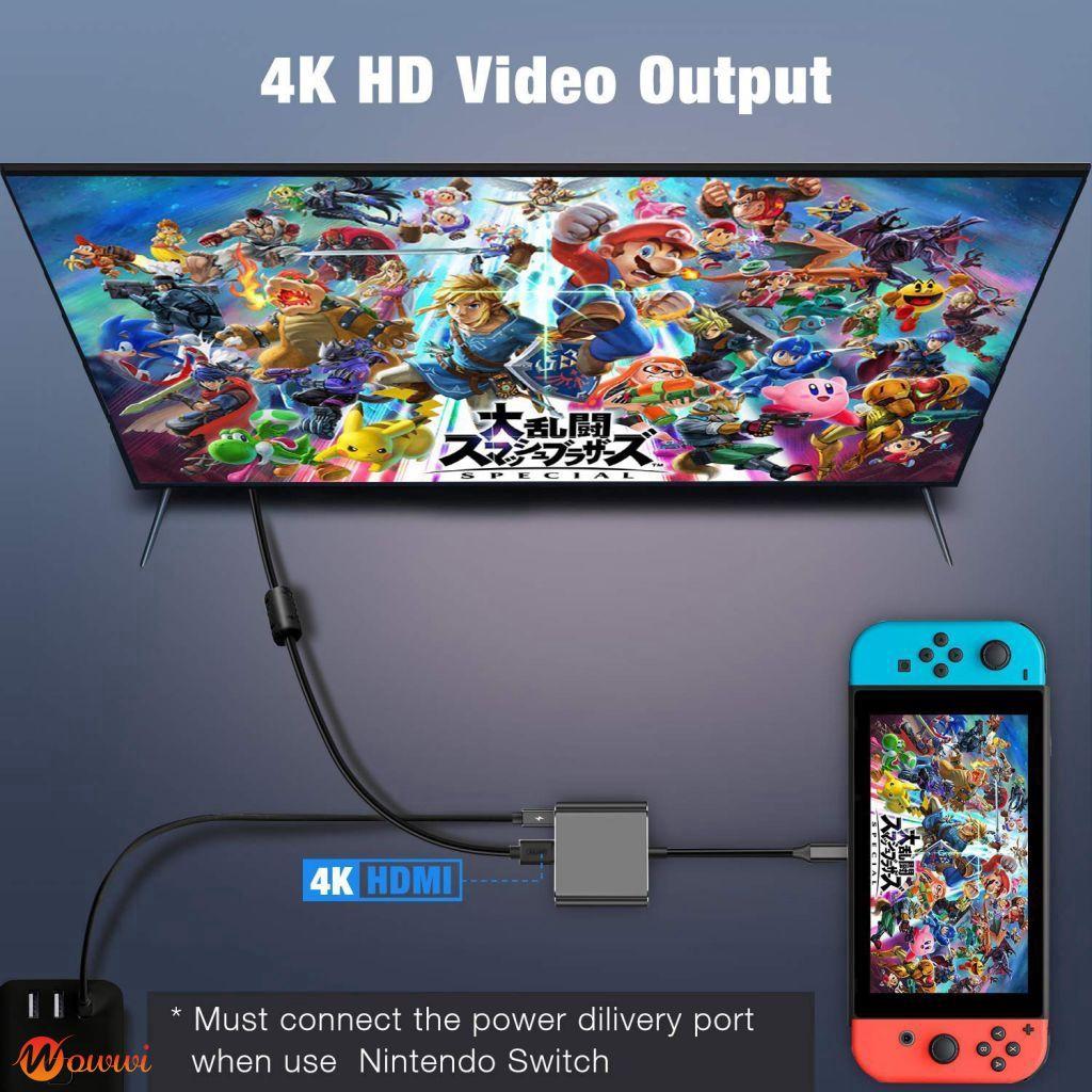 USB 3 1 to USB-C 4 K HDMI USB 3 0 อะแดปเตอร์สายเคเบิ้ล 3 in 1 Hub สำหรับ  MacBook Pro