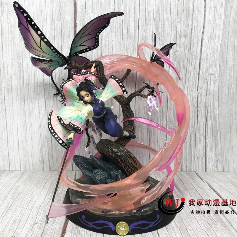 โมเดล demon slayer✜Demon Slayer Blade GK Rubik s Cube Butterfly Ninja Figure Worm Pillar Statue Model Decoration อะนิเมะ
