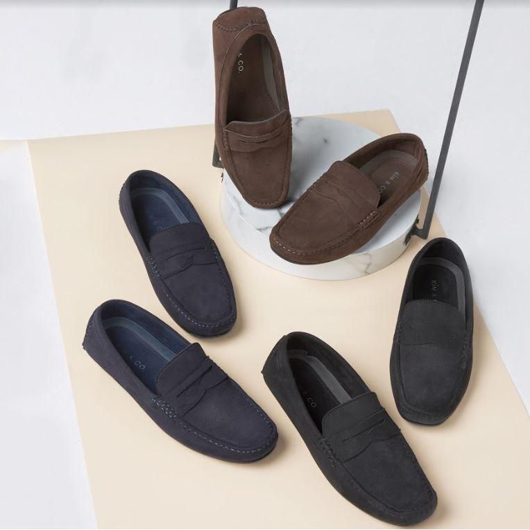 <<<<ฟรีค่าจัดส่ง>>>> Kim&Co. รองเท้าหนัง รองเท้าคัชชู แบบสวม  รุ่น KC003