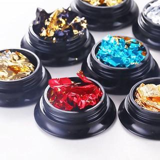 1 Box Colorful Aluminum Foil Paper Nail Art Glitters Sticker DIY Manicure
