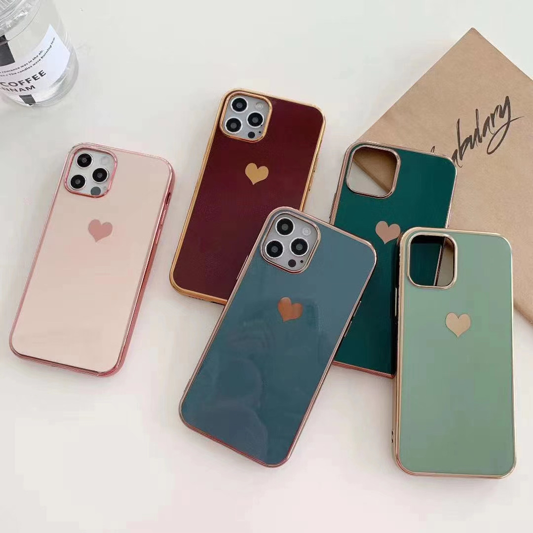 Love Heart เคส iPhone 12 Pro Soft Case Apple iPhone 12 Pro Max TPU Case iPhone 11 iPhone 12 เคสกันกระแทก เคส ไอโฟน
