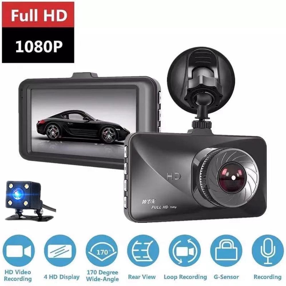 4 Inch FHD 1080p Car DVR Camera LCD 170° Night Vision Recorder Cam Dash G-sensor