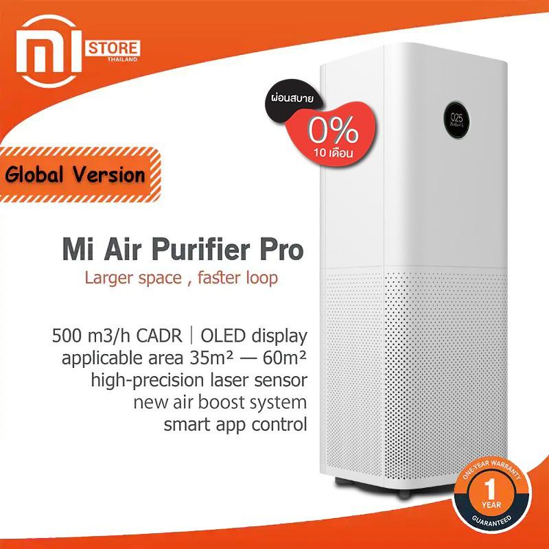 Xiaomi Mi Air Purifier Pro เครื่องฟอกอากาศเสี่ยวมี่ รุ่น Pro ประสิทธิภาพสูง  ประกันศูนย์ไทย 1 ปี