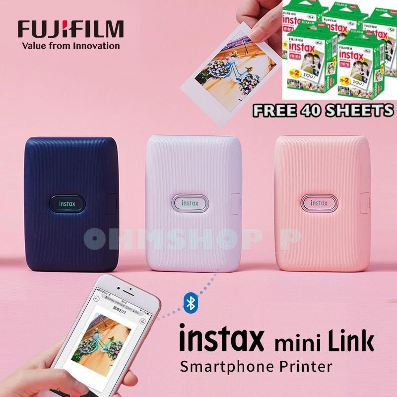 Fujifilm Instax Mini Link Smartphone Printer เครื่องพิมพ์สมาร์ทโฟน แถมฟิล์ม 40 แผ่น ( แท้100% รับประกันศูนย์ไทย 1 ปี )