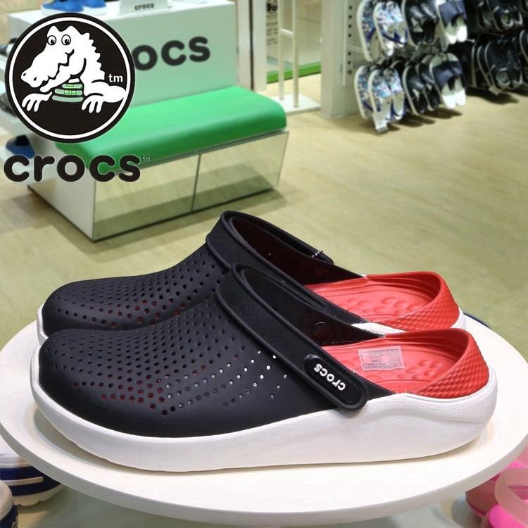 จำเป็นสำหรับฮิปสเตอร์! !! !! Crocs รองเท้าลำลองของแท้รองเท้ารู