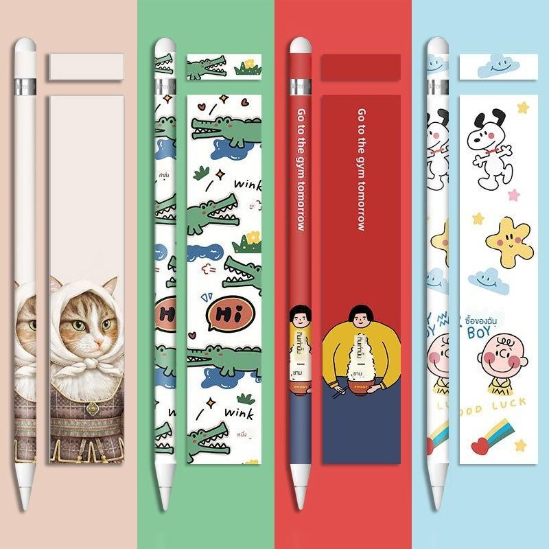 ✤สไตลัส Apple pencil sticker รุ่น 1 ฟิล์มกันลื่น ipad pen cover 2 nib