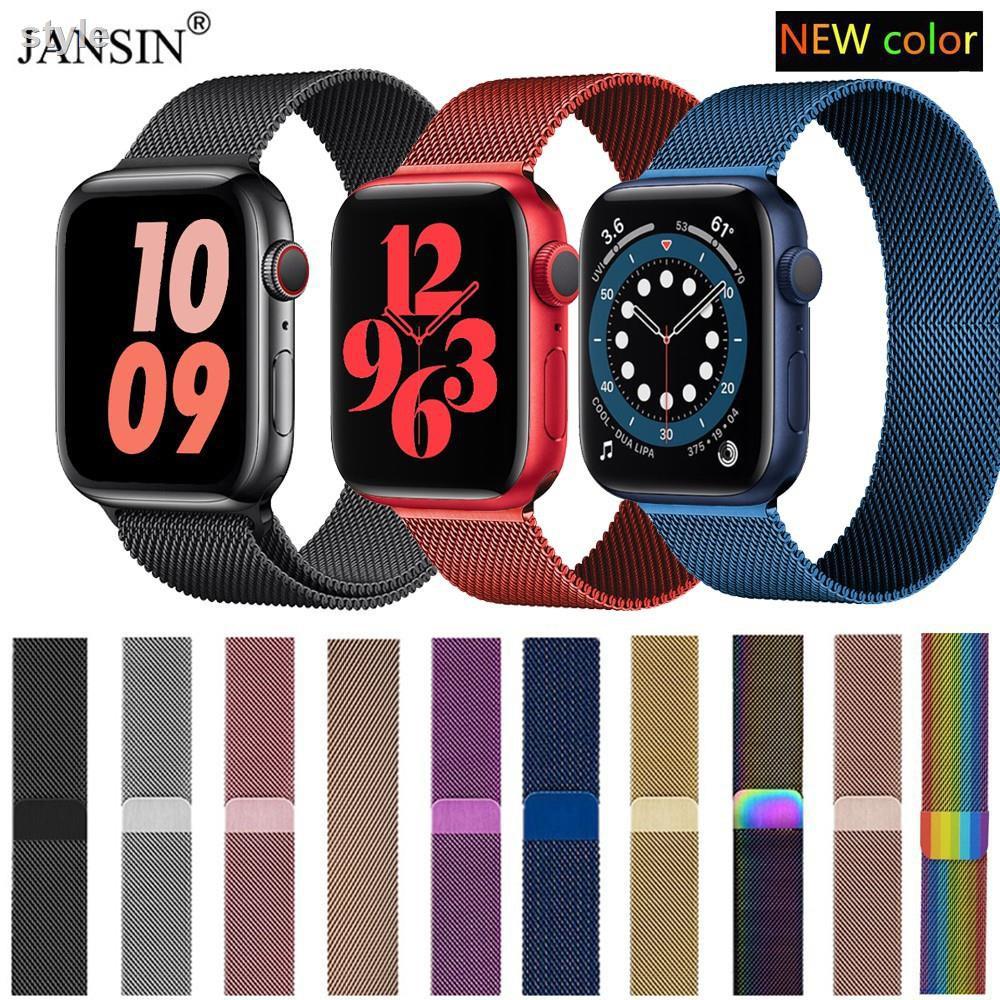 🎁แฟชั่น💌✽สายเปลี่ยนนาฬิกาข้อมือ Apple Watch Band Milanese Loop Series 1  2 3 4 5 6 44 มม 40 38 42 สาย applewatch se