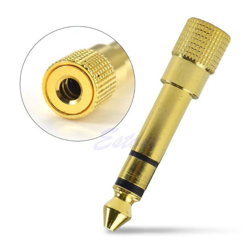 "6.3mm 1//4/"" Male plug to 3.5mm 1//8/"" Female Jack Stereo Headphone Audio Adapter"