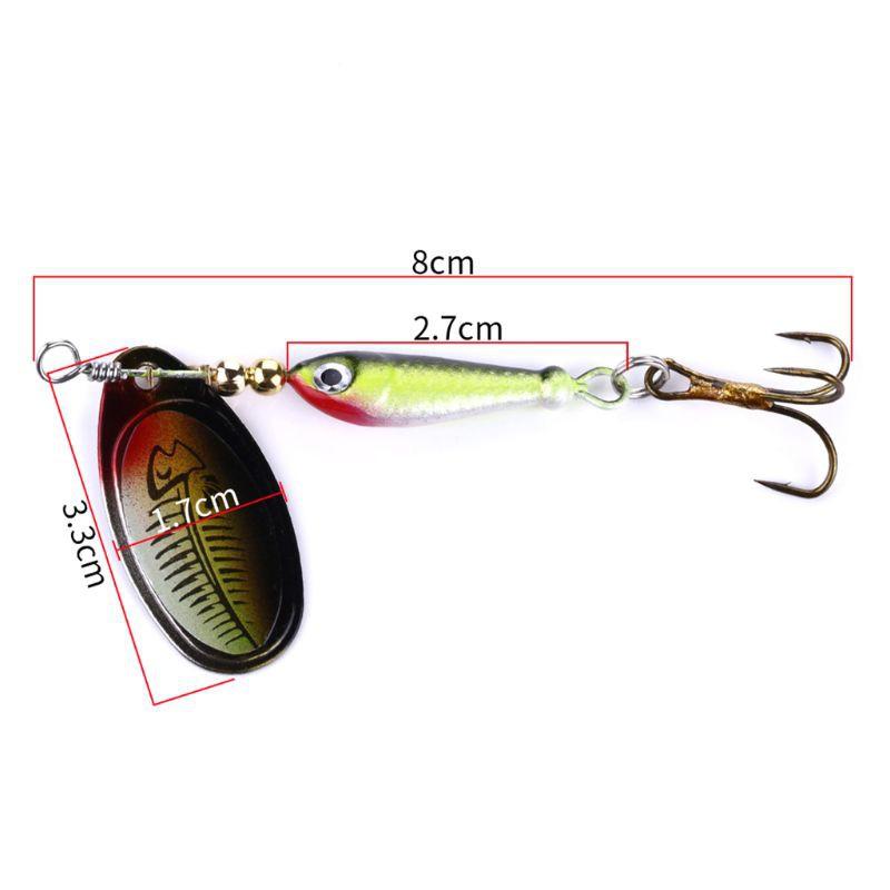 Fishing Bait Sequin Lure Simulate Hook Swimbait Reflective Spinner Spoon Wobbler