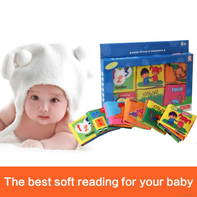 Soft Books Baby Kids Early Cognitive Development Books Baby Goodnight Educational Unfolding Cloth Books Activity Books