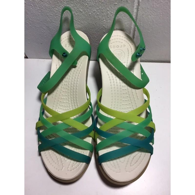 รองเท้า crocs มือสอง ของแท้ สีเขียว size 8