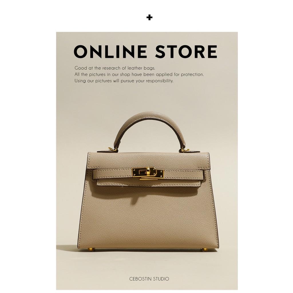 つ✪ กระเป๋ากระเป๋าเดินทาง  กระเป๋าเป้สะพายหลัง★★★❤🔥🔥[ร้านกล้ามท้อง] Kelly กระเป๋ามินิสีขาวแบบพกพากระเป๋าใบเล็ก2021ใหม่ก