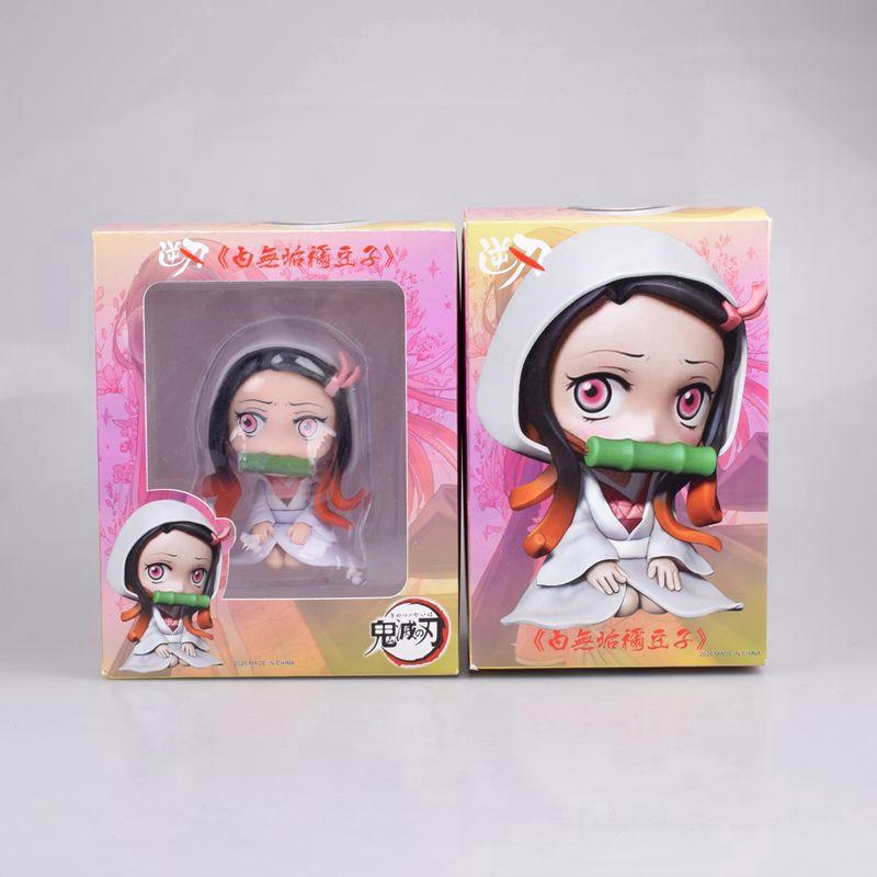 10cm Anime Demon Slayer Kimetsu No Yaiba Figure Kamado Nezuko PVC Action Figure Model Toys