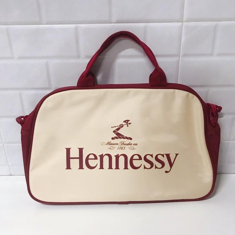 กระเป๋าถือ กระเป๋าเดินทาง Hennessy ทรงสปอร์ต สีเบจ